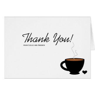 Cozy Kaffee-Liebe danken Ihnen Anmerkungs-Karte Karte