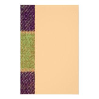 Cozy warmes kariertes Muster Briefpapier