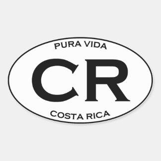 CR - Costa Rica Ovaler Aufkleber
