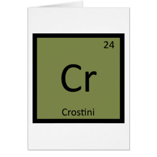 Cr - Crostini Aperitif-Chemie-Periodensystem Karte
