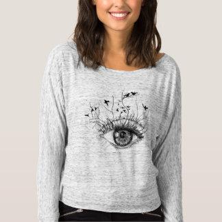(CR) fließendes schulterfreies Shirt für Frauen