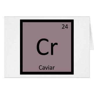 Cr - Kaviar-Aperitif-Chemie-Periodensystem Karte