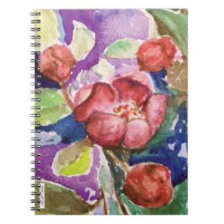Crabapple Blüten-Notizbuch Notizblock