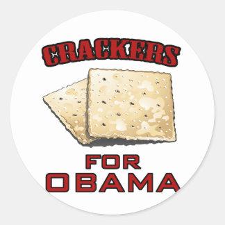 Cracker für Obama Runder Sticker