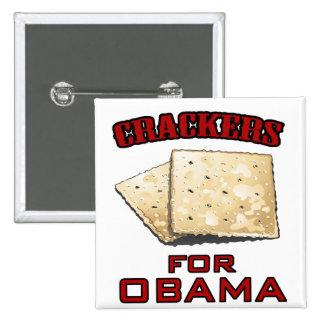 Cracker für Obama Quadratischer Button 5,1 Cm
