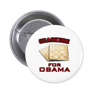 Cracker für Obama Anstecknadelbutton
