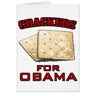 Cracker für Obama Grußkarte