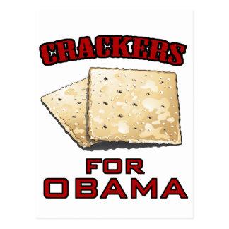 Cracker für Obama Postkarte