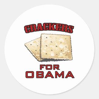 Cracker für Obama Runder Aufkleber
