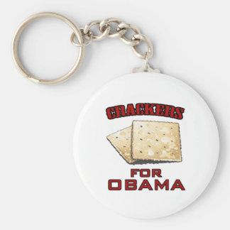 Cracker für Obama Standard Runder Schlüsselanhänger