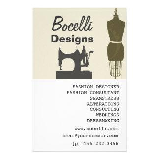 Crafty Damen-Näherin-Mode-Stylist modern Flyer