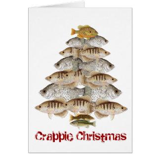 Crappie-Weihnachtsbaum Karte