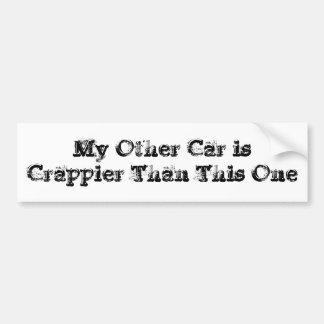 Crappier Autoaufkleber