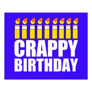 Crappy Geburtstag Vollfarbige Flyer