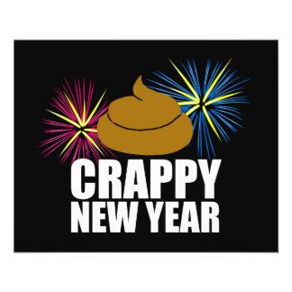Crappy neues Jahr Flyer