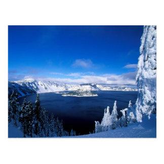 Crater See im Winter Oregon Postkarte