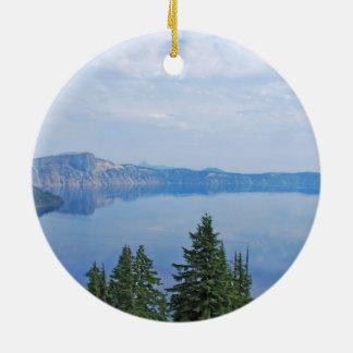 Crater See Oregon Rundes Keramik Ornament