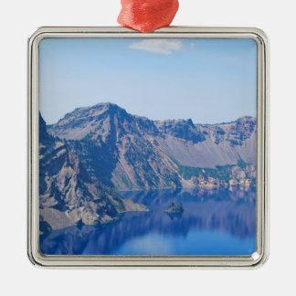 Crater See-Phantomschiff Quadratisches Silberfarbenes Ornament