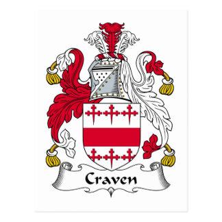 Craven-Familienwappen Postkarte