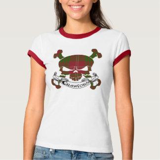 Crawfordtartan-Schädel-Shirt T-Shirt