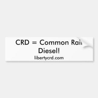 CRD = allgemeiner Schienen-Diesel! , Autoaufkleber