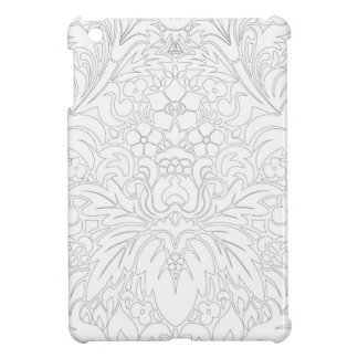 CREAM-GRAY-FLORAL HÜLLE FÜRS iPad MINI