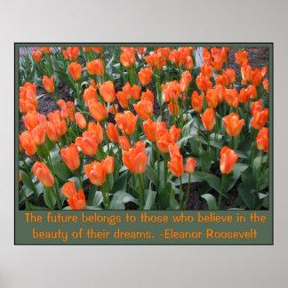 Creamsicle und orange Tulpen Poster