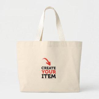 CREATE-YOUR-OWN DIY kundenspezifische Jumbo Stoffbeutel