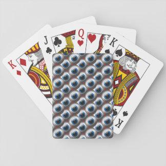 Creepy Bloodshot Augapfel-beängstigende Pokerdeck