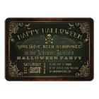 Creepy Grün u. Goldglückliches Halloween-Party Karte