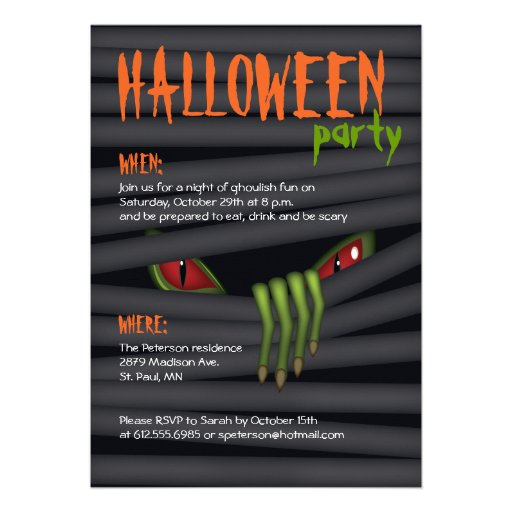 Creepy Halloween-Party-Einladung