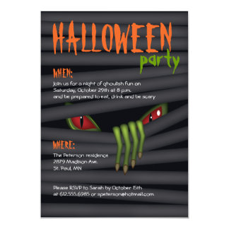 Creepy Halloween-Party-Einladung 12,7 X 17,8 Cm Einladungskarte