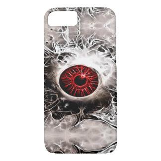 Creepy Horror-Geist-Augen-Fraktal iPhone 8/7 Hülle