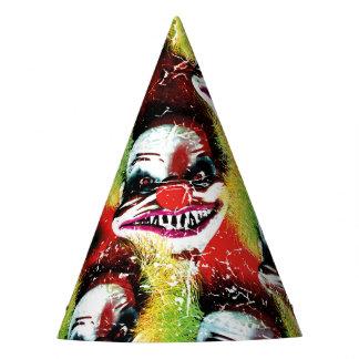 creepy Horrorclownmuster Partyhütchen
