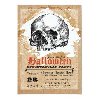 Creepy Schädel-Halloween-Party-Einladungen 12,7 X 17,8 Cm Einladungskarte