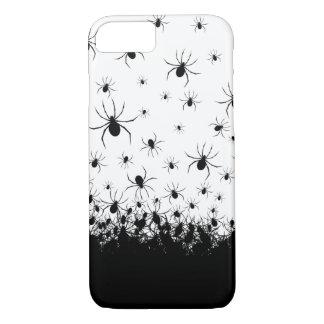 Creepy Spinne geplagter Schwarz-weißer iPhone 8/7 Hülle