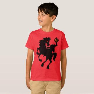 Creepy Spuk kopfloser Reiter-Silhouette T-Shirt