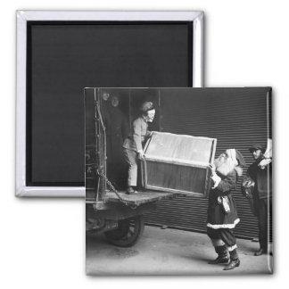 Creepy WeihnachtsTyp, Zwanzigerjahre Quadratischer Magnet