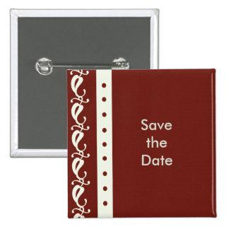 Creme-Kastanienbraun-Save the Date Button