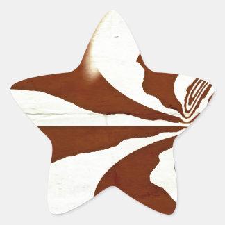 Creme und Schokolade Stern-Aufkleber