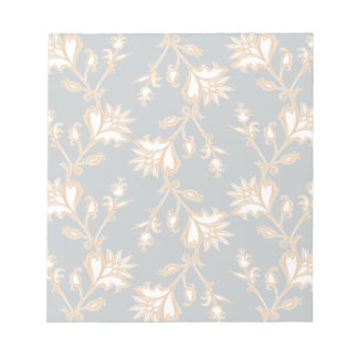 Creme und weiße viktorianische Blumen Notizblock