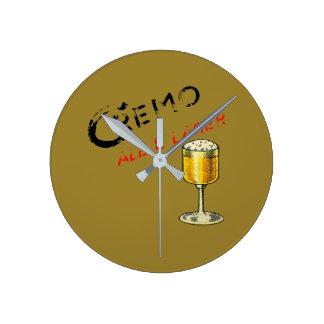 Cremo Ale u. Lager-Bier Runde Wanduhr