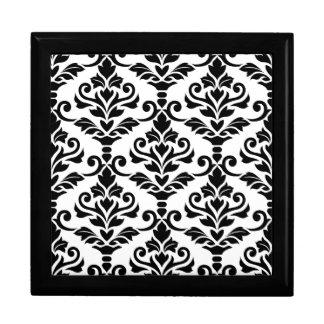 Cresta Damast-großes Muster-Schwarzes auf Weiß Geschenkbox