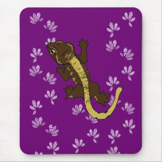 crestie Abdrücke lila (mousepad) Mousepad