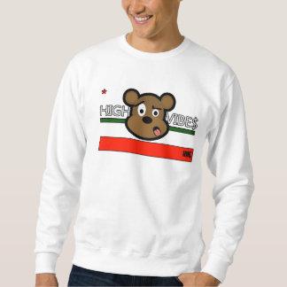 Crew-Hals Kalifornien-Flaggen-(hoher Vibes) Sweatshirt