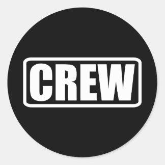 Crew-Mitglied - Ereignis-Team-Personal Runder Aufkleber