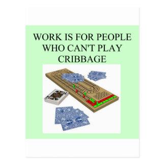 cribbage Spieler Postkarte