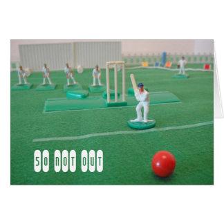 Cricket 50. Geburtstag Karte