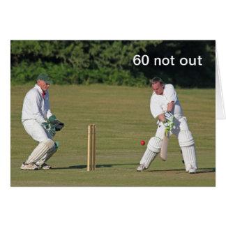 Cricket 60. Geburtstagskarte Karte