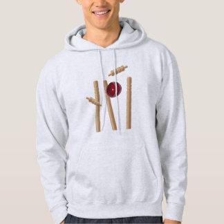Cricket_Stumped, _Men's_Ash_Sweatshirt. Hoodie